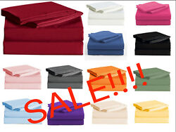 Persian Collection 1900 Count Sheet set Fitted Flat 16 Deep Pocket Wrinkle Free $22.79