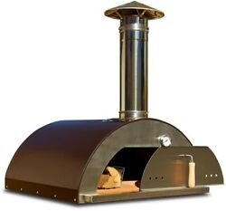 Outdoor Pizza Oven Wood Fired Stainless Steel Heat Thermometer Copper 32 Inches