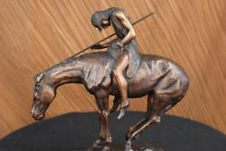 Western Old West Indian Rider Museum Quality Classic Artwork Home Office Decor