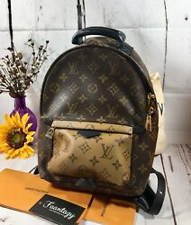 AUTH LOUIS VUITTON Rare Palm Springs Backpack Reverse Monogram PM New