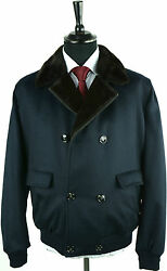 NEW KITON TOP COAT 100% CASHMERE  WEASEL  FUR  sz 52 eu 42 us SCARCE KG13