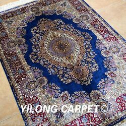 YILONG 3'x4.5' Handmade Silk Area Rugs Outdoor Hand Knotted Carpets Online 0556