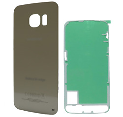 Replacement Glass Back Cover w Adhesive for Samsung Galaxy S6 Edge Gold G925 $100.00