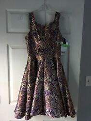 Mac Duggal short cocktail prom dress size 4. New with tags. Purple Gold. $125.00