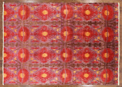 Modern Hand Knotted Oriental Ikat Rug 10 X 14 - P5157