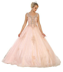 SALE BALL DRESSES QUINCEANERA SWEET 16 GOWN FORMAL MILITARY PAGEANT