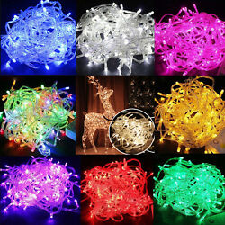 Battery Powered 100 LEDs Fairy String Outdoor Lights Xmas Tree Party Halloween