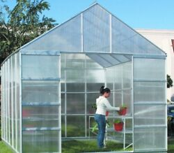10' x 12' GREEN HOUSE GREENHOUSE Polycarbonate Panels! With vents