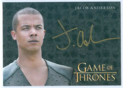 JACOB ANDERSON quot;GREY WORM GOLD AUTOGRAPHquot; GAME OF THRONES VALYRIAN STEEL $24.99