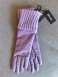 NWT GUDER Gloves Leather Cashmere Lavender Luxury ITALY Size 7