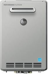 Outdoor Residential Tankless Water Heater Natural Gas Single Wall Gray 120 Volts