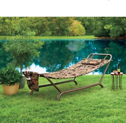 Mossy Oak Camouflage Padded Hammock with Pillow Outdoor Chair Lounge Portable