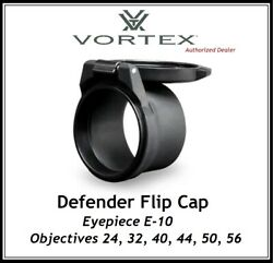 Vortex Defender Flip Caps  - Objective Sizes 24, 32, 40, 44, 50, 56  Auth Dealer $19.00
