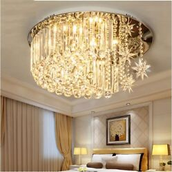 Circular LED Crystal bedroom ceiling light modern living room restaurant lamps $339.00