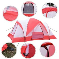 10 Person Camping Tent Red White Family Cabin Rain Fly Accessory Free Shipping