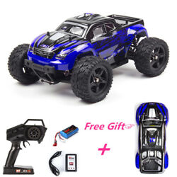 REMO 1 16 RC Monster Truck 4WD Off Road Brushed 2.4Ghz Remote Control Car Blue $65.98