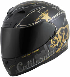 Scorpion EXO-R710 GOLDEN STATE Full-Face Motorcycle Helmet (BlackGold) 3X-Large