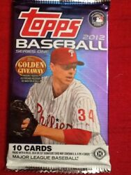 TOPPS 2012 Series 1 Baseball Cards Hobby Pack 10 Cards