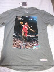 AUTHENTIC LEBRON JAMES CLEVELAND CAVALIERS MITCHELL & NESS T-SHIRT MENS LARGE