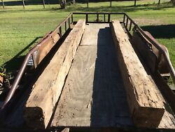 Circa 1700s-1800 Two Cypress Twice Reclaimed Hand Hewn Beams