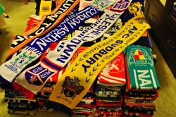 The largest collection of scarves of the English Football Clubs in the world