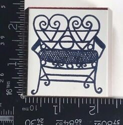 Rubber Stamp Double Heart Chair Home Furnishings Furniture Patio Outdoor T475