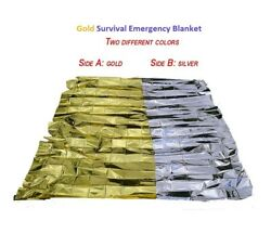 GOLD 4 PACK • Emergency Solar Blanket Survival Safety Insulating Mylar Thermal $6.99