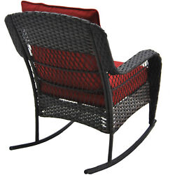 New Outdoor Patio Deck Better Homes and Gardens Colebrook Rocking Chair Red