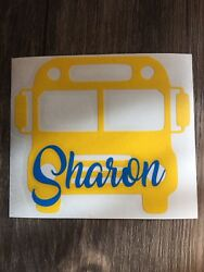 Custom School Bus Name Vinyl Decal for Stainless Tumblers Coffee Travel Cups
