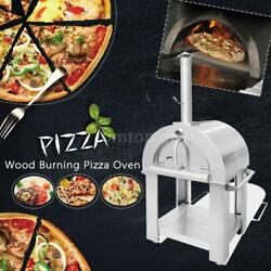 Stainless Steel Pizza Oven BBQ Grill Wood Burning Heater Outdoor Patio Top K0W9