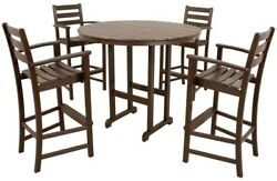 Monterey Bay Vintage Lantern Patio Bar Set 5-Pce Table Chairs Outdoor Furniture