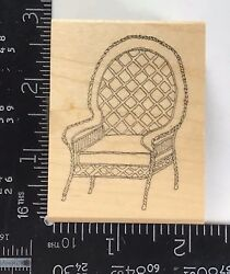 Rubber Stamp Wicker Chair Home Furnishings Seat Weaved Great Impressions T802