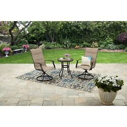 Swivel Bistro Set Chairs Table Outdoor Garden Yard Furniture Lawn Deck Patio