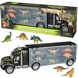 "Prextex 16"" Tractor Trailer Dinosaur Carrier with 6 Mini Plastic Dinosaurs $20.99"