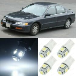 10 x Xenon White Interior LED Lights Package For 1994 1997 Honda Accord TOOL