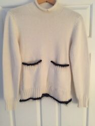 Celine cashmere ivory sweater size small