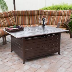 Patio Fire Pit Outdoor Burning Heating Fireplace Wood Aluminum Cast Furniture