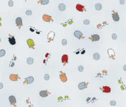 Little Ollie Animal Hedgehogs Toss Stof Quilting 100% cotton fabric by the yard