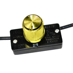 HQRP Universal Dimmer Light Lamp Switch With Rotary Knob 125V 6A $5.35