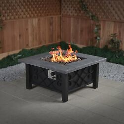Marbella Propane Gas Outdoor PatioGardenYard Fire Pit Table Heater 50000 BTU