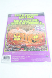 Lot of 6 - Box of 24 Pair O' Pumpkin Lawn Bags 9596 Collect Leaves
