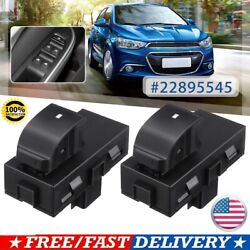 Pair Power Electric Rear Window Switch ABS #22895545 For Chevrolet Silverado GMC