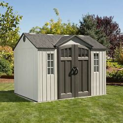 Lifetime 10 X 8 Shed Dual Entry Doors Front Side Heavy Duty Outdoor Decorative
