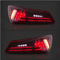 Pair Tail Lights LED Red Lens Rear Lamp Fit For Lexus IS250 IS350 IS F 2006 2012 $279.99