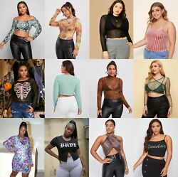Wholesale LOT 40 Pcs Womens clothing Tops Dresses Bikinis Plus Size XL 2X 3X $211.75