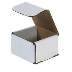Pick Quantity! 1-500 3x3x2 White Small Folding Mailing Corrugated Box Light