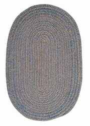 Softex Check CX25 Soft Indoor & Outdoor Braided Blue Ice Check Reversible Rug