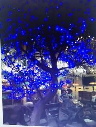 7 Foot Blue LED Tree Resin Composite 1440 LED Lights On 10 Branches New In Box