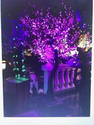 7 Foot Pink LED Tree Resin Composite 1440 LED Lights On 10 Branches New wBox