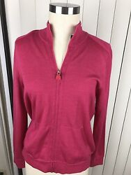 Akris Women's Cashmere Silk Full Zip Cardigan Sweater 10 NWT $1490 Authentic